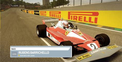 Niki lauda's near fatal accident was at km 10.4 between ex mühle and bergwerk corners. Ferrari 312T2 1976 - Niki Lauda and Rubens Barrichello | RaceDepartment