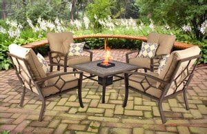 patio conversation set with pit gas 5 seats