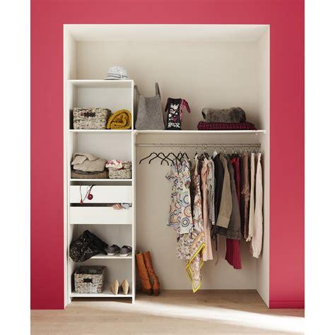 armoire de cuisine en kit kit dressing blanc modul 39 kit h 204 x l 180 x p 45 cm