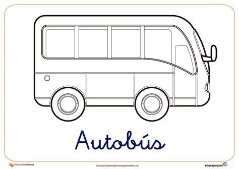 imagenes iluminar de los servicios publicos dibujos de transportes colorear