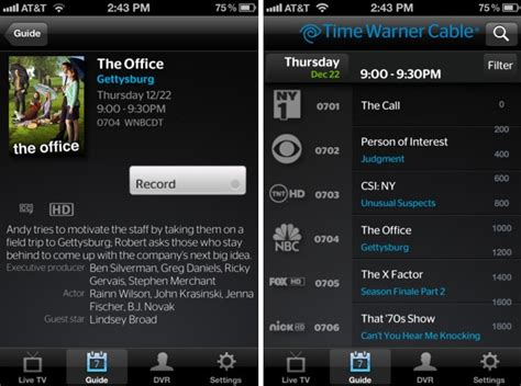 time warner phone app time warner twc tv app now available for iphone and ipod
