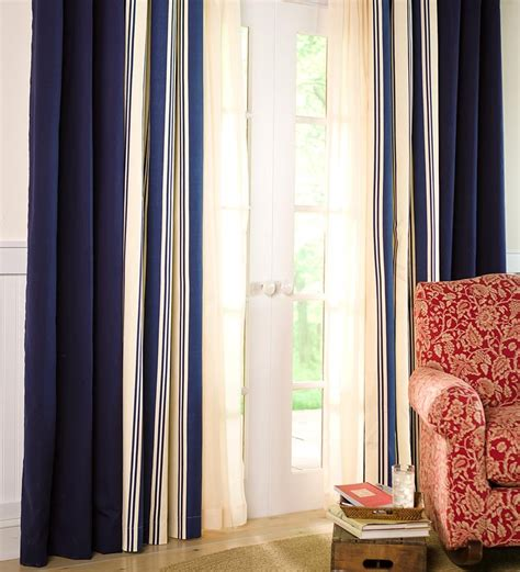 wide thermalogic stripe curtains curtains plow hearth