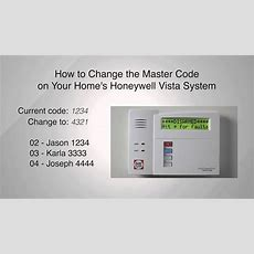 How To Change The Master Code On Your Honeywell Master Vista System Youtube