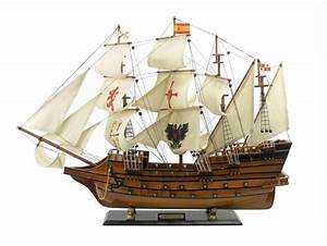 Buy Wooden Spanish Galleon Tall Model Ship Limited 34 Inch