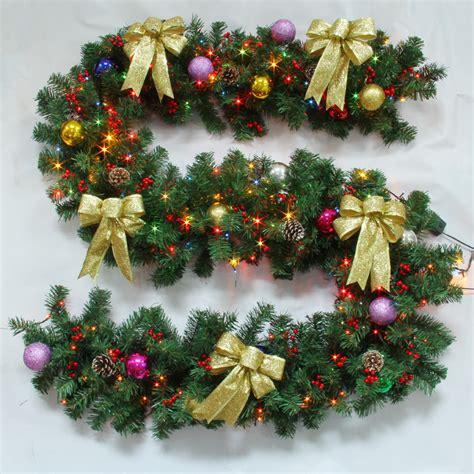 wicker christmas decor decoration garland with lights rattan decor