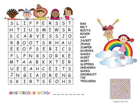 clothes word search kidspressmagazine