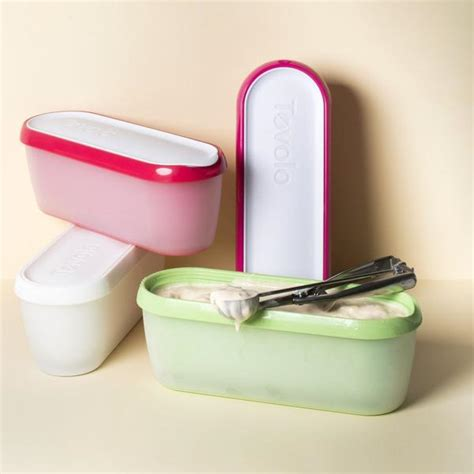 tovolo glide  scoop ice cream tubs fits   freezer