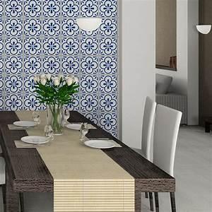 Stickers Carreaux De Ciment : 30 stickers carreaux de ciment azulejos aroha cuisine ~ Premium-room.com Idées de Décoration