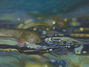 26 best images about Rainbow Trout Fish Paintings on ...