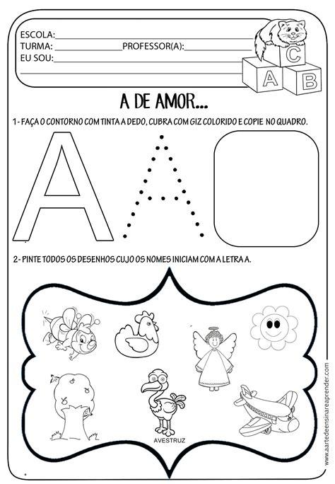 atividade pronta letra a a arte de ensinar e aprender