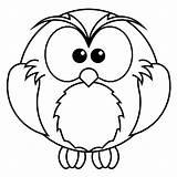 Owl Coloring Preschool Easy Owls Coloringbay Snowy sketch template