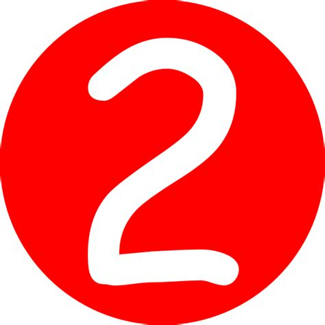 Number 2 Button Png, Svg Clip Art For Web