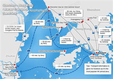 Ferry Zhuhai To Hong Kong by Transport And Time By Land Sea From Shenzhen Guangzhou