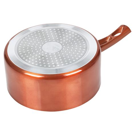 pc urbn chef saucepan ceramic copper induction cooking frying pan cookware set ebay