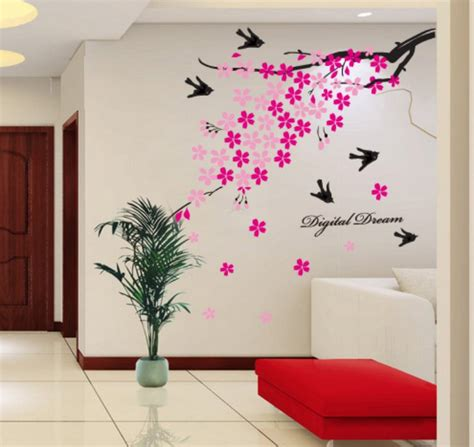 flower decals for bedroom 10cm 8cm wall stickers for tv living room bedroom