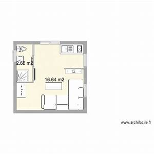 studio 20m2 plan 2 pieces 19 m2 dessine par tlc With plan appartement 150 m2 16 plan de maison duplex