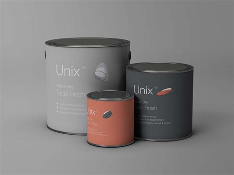 20 striking packaging designs you have to see. 3 Sizes Metal Paint Buckets Mockup (PSD)