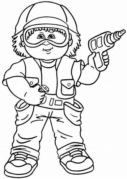 Coloring Cabbage Patch Pages Popular