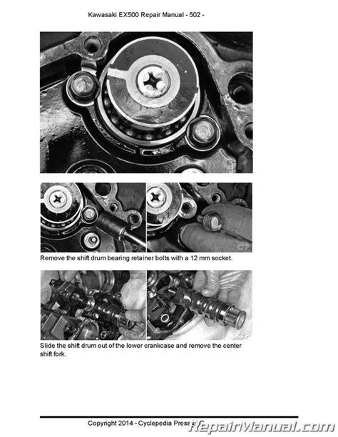Kawasaki Motorcycle Service by Kawasaki Ex500 500 Cyclepedia Printed Motorcycle