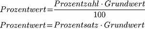 Grundwert Berechnen Formel : prozentwert berechnen formel und definition ~ Themetempest.com Abrechnung