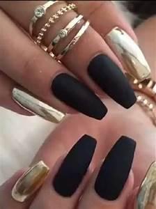 Amazing Nail Art Designs Matte And Chrome Metallic Nails Design Gold Nail Designs
