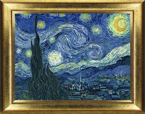 tableau de gogh la chambre sticker tableau gogh nuit étoilée stickers et