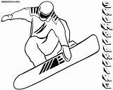 Snowboarding Coloring Pages Print Colorings sketch template