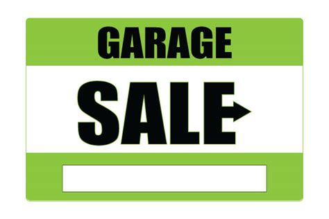 sale signs printable printable garage sale signs green free download