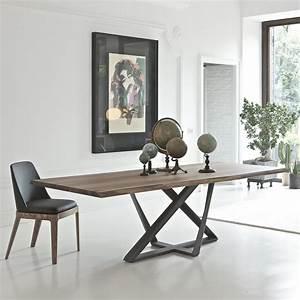 Tavolo moderno in legno noce Millennium ARREDACLICK