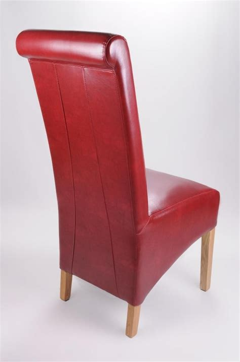 buy the krista burgundy leather dining chair ascendi