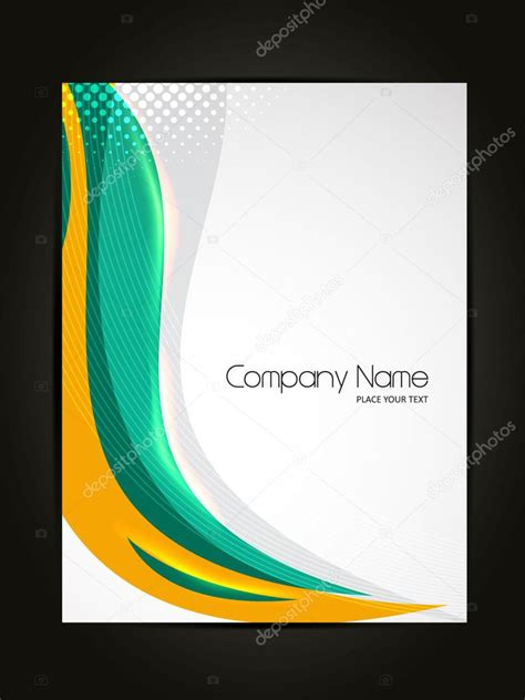 beautiful abstract flyer design cover page design