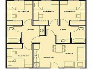 Stunning small 4 bedroom house plans two story 4 bedroom for Simple house plan with 4 bedrooms