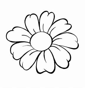 Flower Outlines For Coloring - ClipArt Best