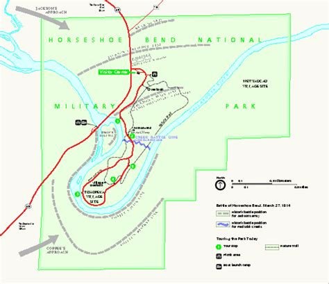 horseshoe bend national military park official map