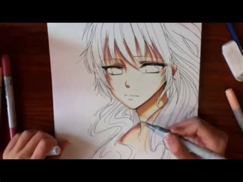 drawingcoloring anime girl youtube