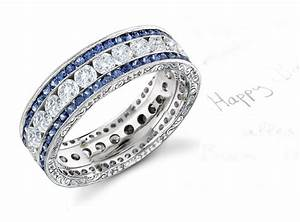 colored diamond bands images With colored diamond wedding ring