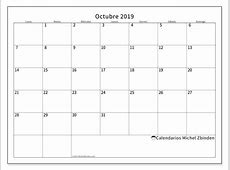 Calendario octubre 2019 53LD Michel Zbinden es