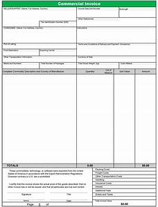 commercial invoice template free sanjonmotel With fillable invoice form