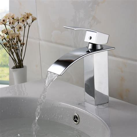 kitchen sink shower elite modern bathroom sink waterfall faucet chrome finish 5937