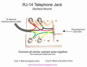 Wiring Diagram Phone Wire Colors Dsl Jack For   Phone Wire