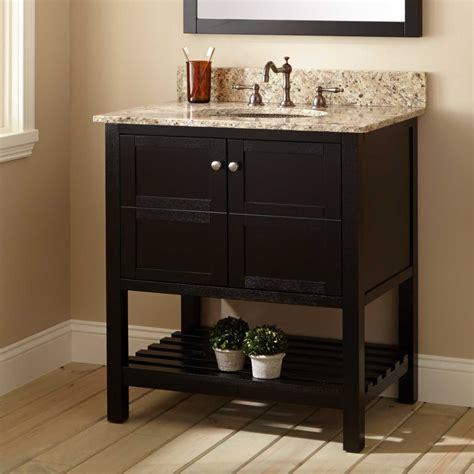 everett vanity  undermount sink black bathroom