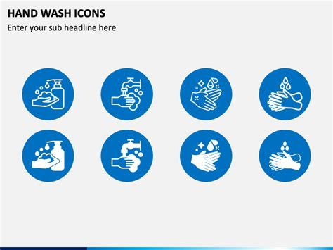 Hand Wash Icons Powerpoint Template Ppt Slides