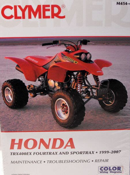honda trx  fourtrax service repair manual ebay