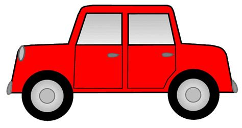 Red Car Sketch Clipart, 12cm Long