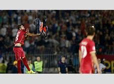SerbiaAlbania Euro 2016 football qualifier abandoned