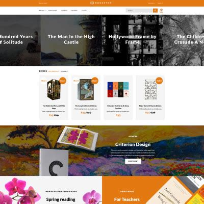 opencart bookstore template book store opencart template 38889