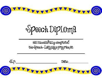 Speech Contest Certificate Template by 77 Best Slp Certificate Freebies Images On