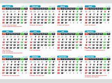 Kalender 2015, Cuti Bersama Dan Hari Libur Nasional