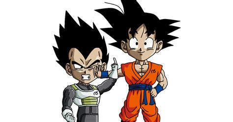 Dbz Wallpaper Goku And Vegeta Goku And Vegeta Chibi Ms Paint By Srojam On Deviantart