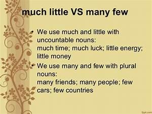 Quantifier much many little few